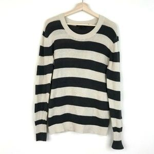 MarcByMarc Jacobs Mens Striped Linen Blend Sweater